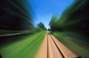 blurred train